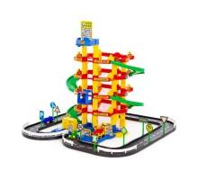 Детская игрушка парковка для мальчиков. Паркинг 5-уровневый с дорогой и автомобилями (в коробке) арт. 38104 ПОЛЕСЬЕ в Минске