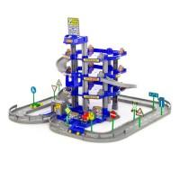 Детская игрушка для мальчиков конструктор паркинг 4-уровневый с дорогой и автомобилями (синий) (в коробке) арт. 44716 ПОЛЕСЬЕ в Минске