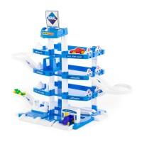 """Детская игрушка для мальчиков конструктор паркинг """"ARAL-2"""" 4-уровневый с машинками (в коробке) арт. 46093 ПОЛЕСЬЕ в Минске"""