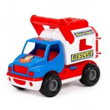 """Детская игрушка """"КонсТрак - спасательная команда"""", автомобиль (в сеточке) арт. 0537 Полесье"""