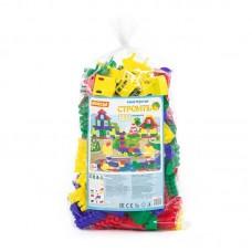 """Детская игрушка Конструктор """"Строитель"""" (Макси, 253 элемента) (в мешке) арт. 0552 Полесье"""