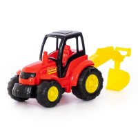 """Детская игрушка """"Чемпион"""", трактор с лопатой (в сеточке) арт. 0568 Полесье"""