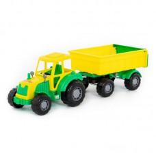 """Детская игрушка """"Мастер"""", трактор с прицепом №1, 35257, Полесье"""