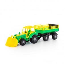 """Детская игрушка трактор с прицепом №2 и ковшом """"Алтай"""" арт. 35363 Полесье"""