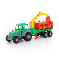"""Детская игрушка """"Алтай"""", трактор с полуприцепом-лесовозом, 35370, Полесье"""