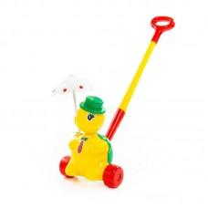 """Детская игрушка Черепашка-каталка """"Тортила"""" с ручкой, 3637, Полесье"""