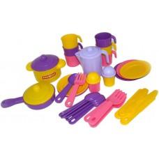 """Детская игрушка Набор детской посуды """"Настенька"""" на 6 персон, 3933, Полесье"""