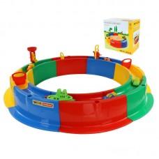 """Детская игрушка Песочница """"Кольцо"""" Ø1360 мм с набором, 40923, Полесье"""
