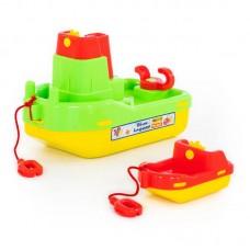"""Детская игрушка Набор №402: буксир """"Лагуна"""", кораблик №4 арт. 41227 Полесье"""