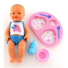 """Детская игрушка Кукла """"Пупс"""": пьёт и ходит на горшок (с набором для кормления), 42226, Полесье"""