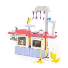 """Детская игрушка кухня+прачечная ИНФИНИТИ. Игровой набор """"INFINITY premium"""" №4.  СВЕТ, ЗВУК. РЕАЛИСТИЧНЫЙ КРАН с водой (в коробке) арт. 42361"""