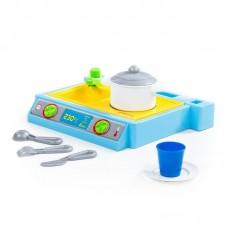 """Детская игрушечная плита """"NATALI"""" №2. Детская кухня НАТАЛИ (в сеточке) арт. 43405 Полесье"""