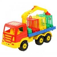"""Детская игрушка """"Престиж"""", автомобиль для перевозки зверей арт. 44204 Полесье"""