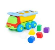 """Детская развивающая игрушка-сортер """"Кеша"""", автомобиль-самосвал логический арт. 46529 Полесье"""