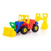 """Детская игрушка """"Батыр"""", трактор-экскаватор, 46758, Полесье"""
