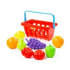 Детская игрушка Набор продуктов с корзинкой №2 (9 элементов) (в сеточке), 46963, Полесье