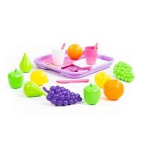 Детская игрушка Набор продуктов №2 с посудкой и подносом (21 элемент) (в сеточке), 46970, Полесье