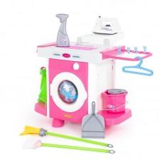 """Детская игрушка стиральная машина  Набор """"Carmen"""" №5 с аксессуарами (в пакете), 48103, Полесье"""