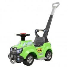 """Детская игрушка Каталка-автомобиль """"Sokol"""" с ручкой и подножкой (со звуковым сигналом) арт. 48165 Полесье"""