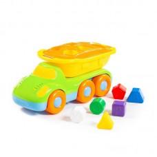 """Детская игрушка-сортер """"Дружок"""", автомобиль-самосвал логический арт. 48363, Полесье"""