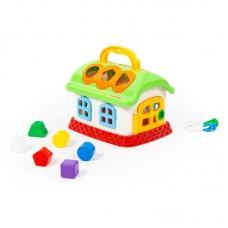 Детская игрушка-сортер Сказочный домик (в сеточке), 48745, Полесье