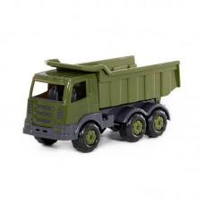"""Детская игрушка """"Престиж"""", автомобиль-самосвал военный (РБ), 49179, Полесье"""