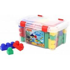 """Детский конструктор для детей """"Юниор"""" (54 элемента) (в контейнере) арт. 50496 Полесье"""