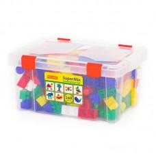 """Детская игрушка Конструктор """"Супер-микс"""" (168 элементов) (в контейнере), 50601, Полесье"""