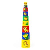 Детская игрушка Занимательная пирамидка №3 (9 элементов) (в сеточке), 52582, Полесье