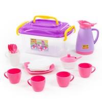 """Детская игрушка Набор детской посуды """"Алиса"""" на 4 персоны (в контейнере), 53480, Полесье"""