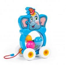 """Детская игрушка каталка на шнурке """"Бимбосфера - Слонёнок"""" арт.  54432 Полесье"""