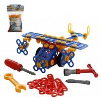 """Детская игрушка Конструктор """"Изобретатель"""" - """"Самолёт №2"""" (144 элемента) (в пакете), 55019, Полесье"""