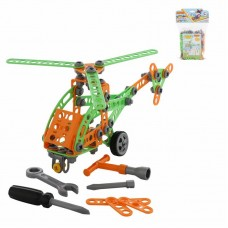 """Детская игрушка Конструктор """"Изобретатель"""" - """"Вертолёт №1"""" (130 элементов) (в пакете), 55026, Полесье"""