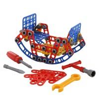 """Детская игрушка Конструктор """"Изобретатель"""" - """"Качели №2"""" (121 элемент) (в пакете) арт. 55101 Полесье"""