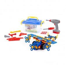 """Детская игрушка Конструктор """"Изобретатель"""" - """"Самолёт №2"""" (144 элемента) (в контейнере), 55217, Полесье"""