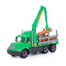 """Детская игрушка """"Майк"""", автомобиль-лесовоз (в сеточке) арт. 55651 Полесье"""