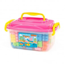 """Детская игрушка Конструктор """"Малютка"""" (141 элемент) (в контейнере), 56160, Полесье"""