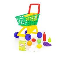 Детская игрушка Тележка для маркета + набор продуктов №8 (12 элементов) арт. 61928 Полесье
