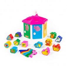 Детская игрушка-сортер Логический домик (в сеточке) арт. 6196 Полесье