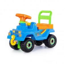 Детская игрушка Джип 4х4 - №2 (без звукового сигнала, голубой) арт. 62819 Полесье