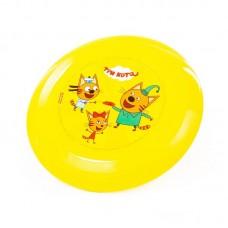 """Детская игрушка Летающая тарелка ФРИСБИ """"Три кота"""" арт. 63205 ПОЛЕСЬЕ"""