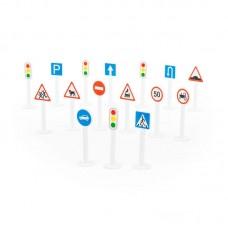 Детская игрушка Набор дорожных знаков №1 (16 элементов) (в пакете), 64196, Полесье