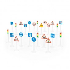 Детская игрушка Набор дорожных знаков №3 (24 элемента) (в пакете) арт. 64219 Полесье