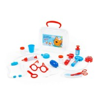 """Детская игрушка Набор """"Три Кота"""" """"Доктор"""" (в чемоданчике) арт. 65346 Полесье"""