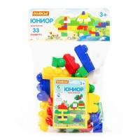 """Детская игрушка Конструктор """"Юниор"""" (33 элемента) (в мешке), 6646, Полесье"""