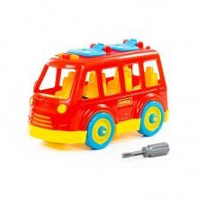 """Детская игрушка Конструктор-транспорт """"Автобус"""" (в сеточке) арт. 71248 Полесье"""