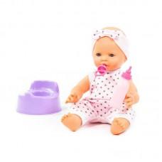 """Детская игрушка Пупс """"Забавный"""" (35 см) с соской, бутылочкой и горшком (в пакете), 71361, Полесье"""