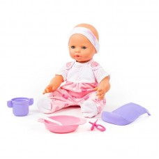 """Детская игрушка Пупс """"Забавный"""" (35 см) с соской и набором для кормления (в пакете), 71484, Полесье"""