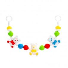 """Детская игрушка Погремушка-подвеска """"Весёлые мишки"""" (54 см), 71552, Полесье"""