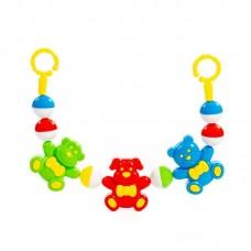 """Детская игрушка Погремушка-подвеска """"Забавные зверята"""" (48 см), 71569, Полесье"""